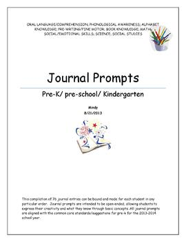 Journal Prompts-Perfect for back to school!