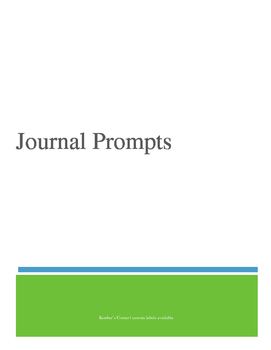 Journal Prompts