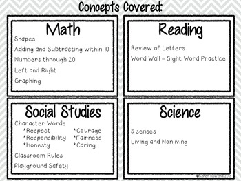 Back to School Journal Prompts - Math, Reading, Social Studies and Science