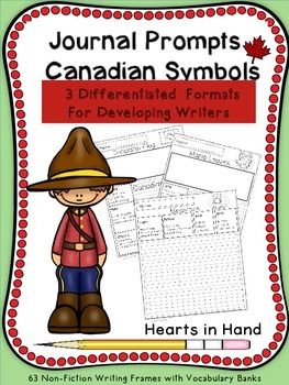 Journal Prompts Canadian Symbols for Primary(K-3)