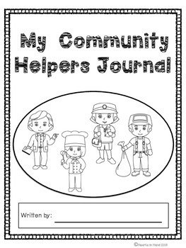 Journal Prompts Community Helpers for Primary(K-3)