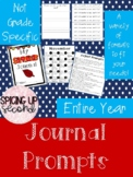 Journal Prompts ~ Entire School Year's Worth