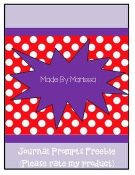 Journal Prompts Freebie