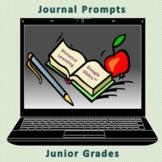 Journal Prompts-Junior Grades-Distance Learning-Google Slides™