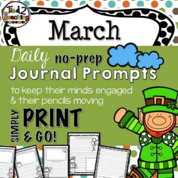 Spring Journal and Writing Prompts - March