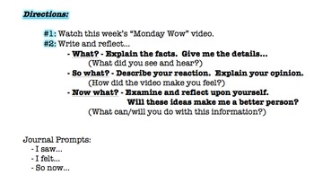 Journal Prompts - Monday Wow!