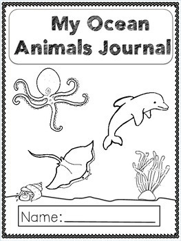 Journal Prompts Ocean Animals For Primary(K-3)