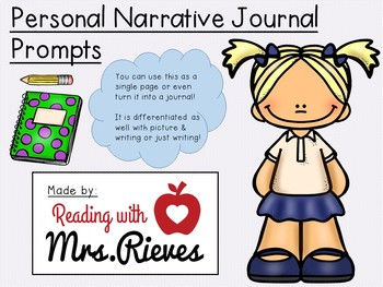 Journal Prompts - Personal Narrative