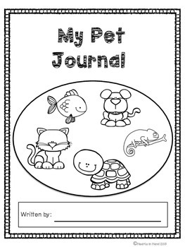 Journal Prompts Pets For Primary(K-3)