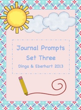 Journal Prompts - Set Three - Intermediate Grade Level - {45 Printable Prompts}