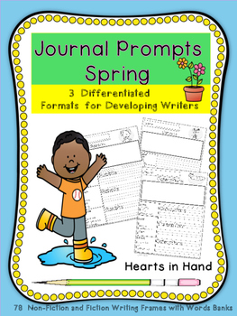 Journal Prompts Spring for Primary