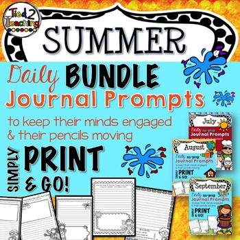 Journal Prompts - Summer Bundle