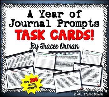 Journal Prompts Task Cards