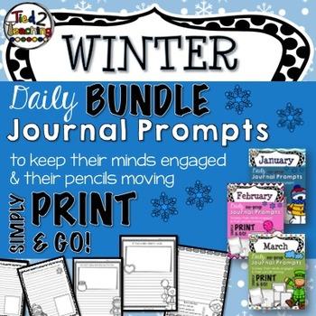 Journal Prompts - WINTER BUNDLE