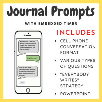 Journal Prompts With Embedded Timer