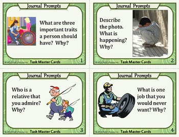 Journal Prompts Task Cards