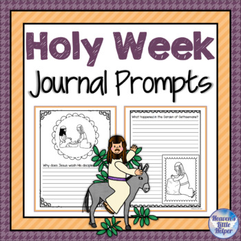 Journal Prompts about Holy Week and Easter
