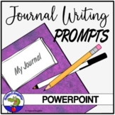 Journal Writing Prompts PowerPoint for 16 Weeks