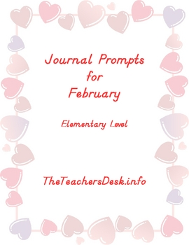 Journal Prompts for Elementary - February