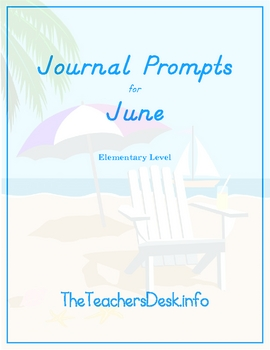 Journal Prompts for Elementary - June