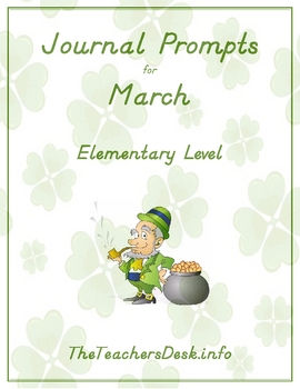 Journal Prompts for Elementary - March