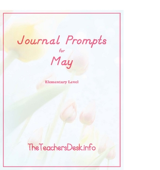 Journal Prompts for Elementary - May