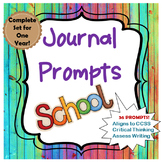 Journal Prompts for Language Arts- A Year's Worth