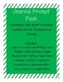 Journal Prompts for Reading Street Kindergarten - Unit Six