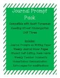 Journal Prompts for Reading Street Kindergarten - Unit Three