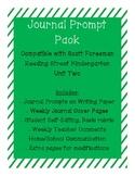Journal Prompts for Reading Street Kindergarten - Unit Two