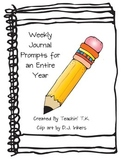 Transitional Kindergarten Journal Prompts for an Entire Year