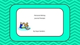 Journal Prompts for the Whiteboard or Smartboard