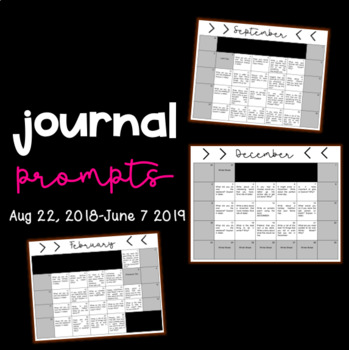 Journal Prompts for the Year!