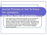 Journal Prompts or Get To Know You Questions Quiz Quiz Tr