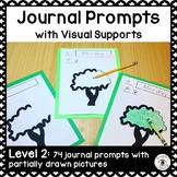 Journal Prompts with Visual Supports Level 2