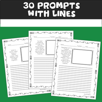 Back to School Writing Prompts (August & September)