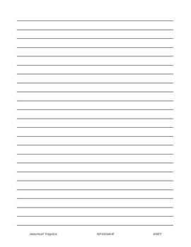 Journal Quick Write