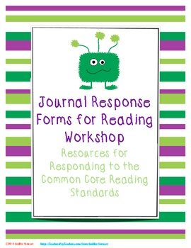 Journal Response Forms for Reading Workshop