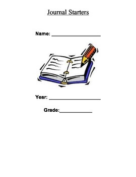 Journal Starters- Full School Year of Journal Prompts