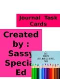 Journal Task Cards