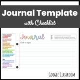 Journal Template with Writing Checklist