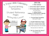 Journals Through the Year {Writing Templates & Trace-able Calendar Covers}