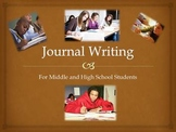 Journal Topics for Middle and High School Students