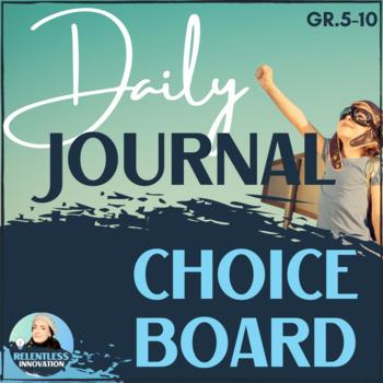 Journal Topics - Daily Writing Bingo Card Prompts