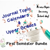 Journal Topics Upper Grade Calendar