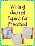 Journal Topics for Preschool and ECSE