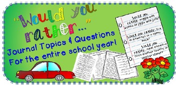 Journal Topics and Printable Journal Paper for the entire year!