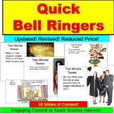 Journal Warm Up, Bell Ringer, Anticipatory Set PowerPoint:  Part I