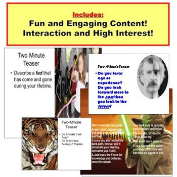 Journal Warm Up, Bell Ringer, Anticipatory Set PowerPoint