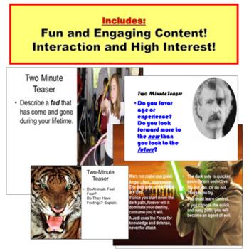 Bell Ringer, Anticipatory Set PowerPoint